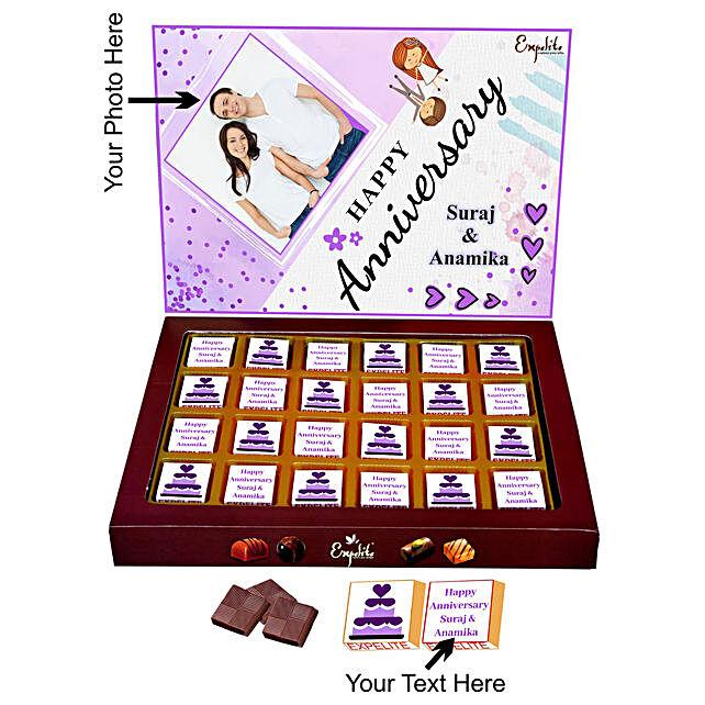 Online Anniversary Personalised Chocolates