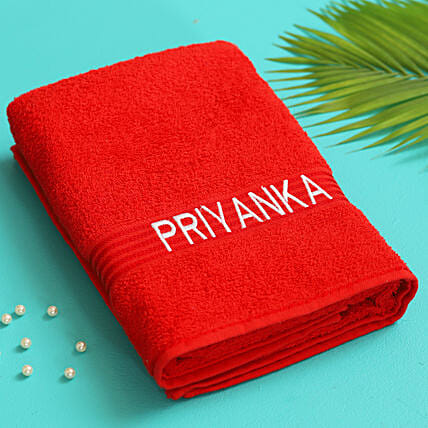 personalised towel for her