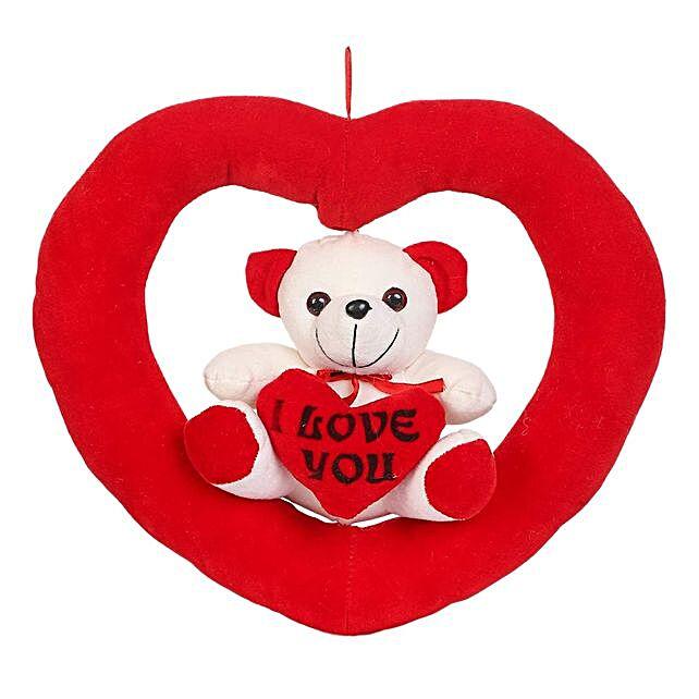 Online Teddy in Heart Ring