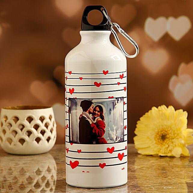 printed valentine day water bottle:Send Personalised Message Bottles