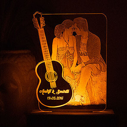 personalised home décor night lamp