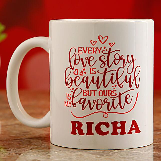 printed valentine day mug