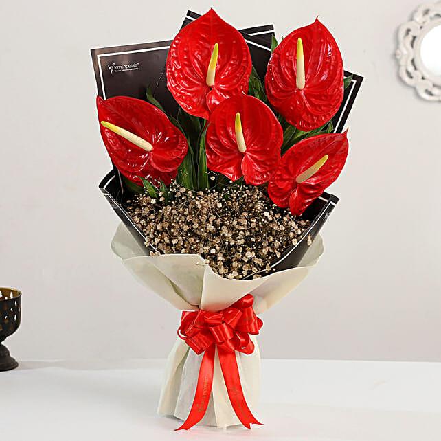 premium flower bouquet:Anthuriums