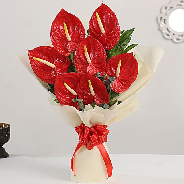 exotic flower bouquet:Send Anthuriums