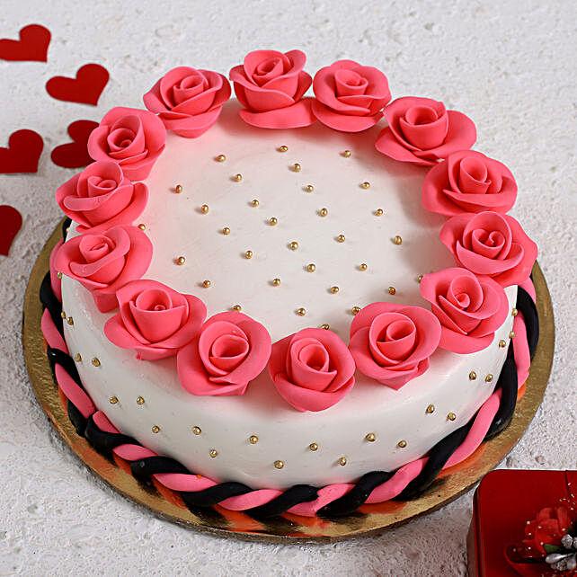 Roses Around Designer Truffle Cake