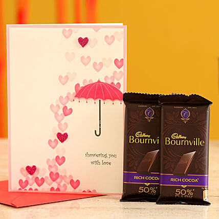 Valentines Chocolates & Card for Her