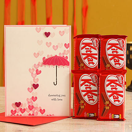 Valentines Card & Chocolates for Her