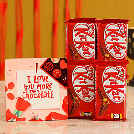 Love you Table Top & Chocolates for Her