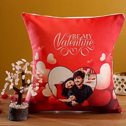 Personalised V Day Red Cushion Wish Tree:Valentine Gift Combos