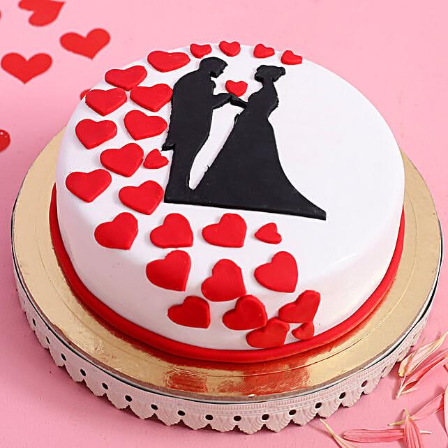 Online Love Couple Designer Cake
