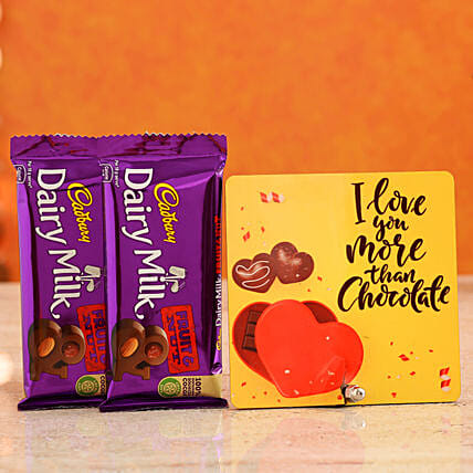 Order Love More Than Chocolate Table Top