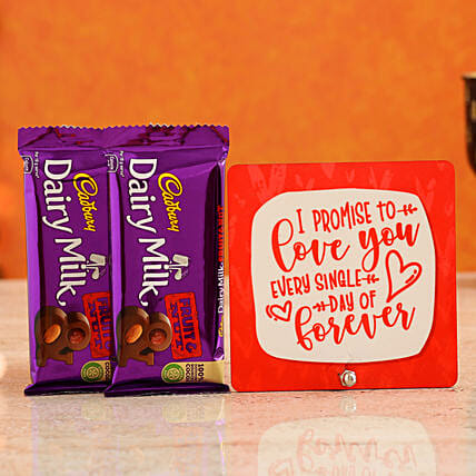 Send Love You Forever Table Top:Chocolate Combo For Valentine's Day