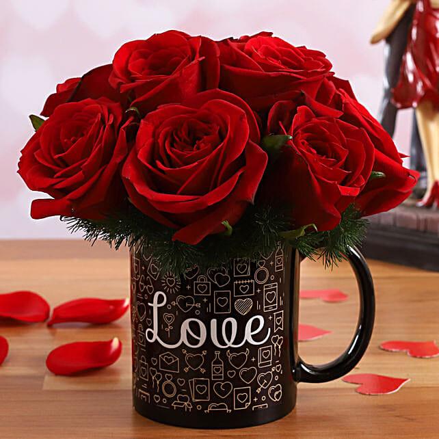 Red Roses In Love V-Day Mug