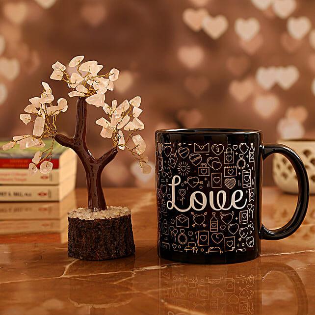 Love Mug and  Rose Quartz Wish Tree