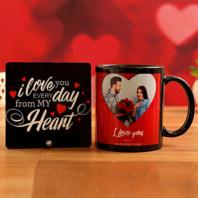 Customised Couple Photo Mug and Love Table Top