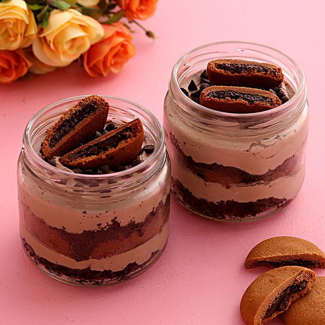 choco cream cake jar