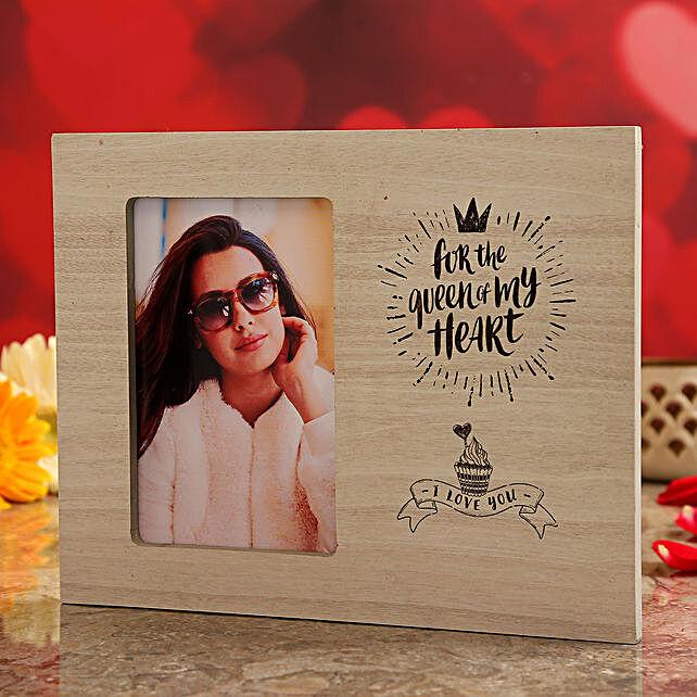 vday theme photo frame for her