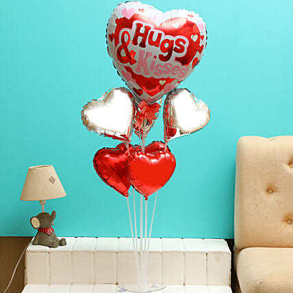 Hugs Kisses Balloon Bouquet