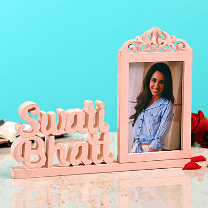 Personalised Photo Frame With Name:Send Valentines Day Special Photo Frames