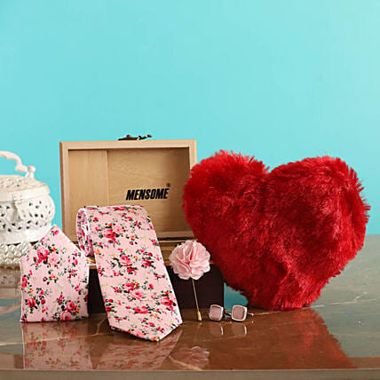 Online Tie Gift Set with Heart for Husband