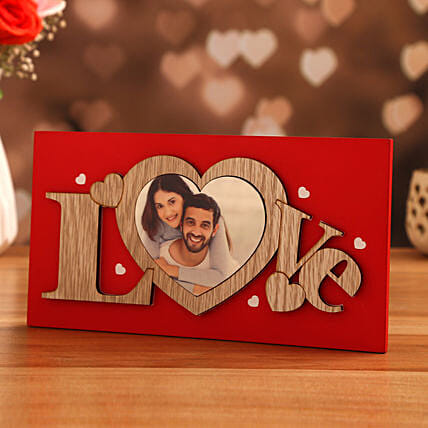 vday theme personalised frame:Personalised Photo Frames for Wedding Gifts