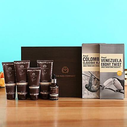 The Man Company Caffeine Gang Kit Amul Chocolates