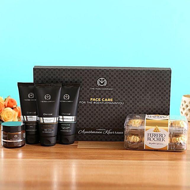 The Man Company Face Care Kit Ferrero Rocher Box