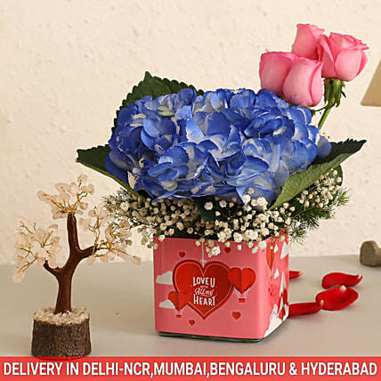 Online Pink Roses And Wish Tree