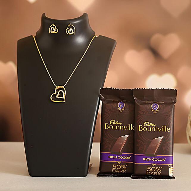 Forever Heart Necklace Set Cadbury Bournville:Shop By Brands
