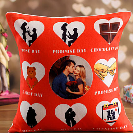 personalised cushion for valentine