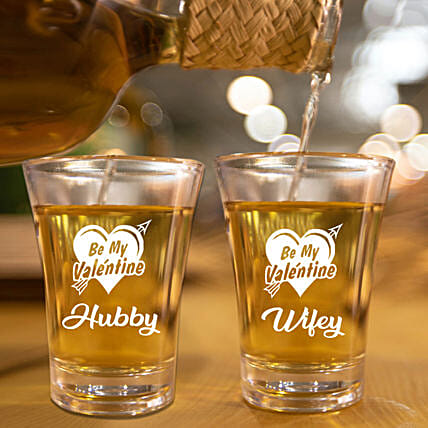 For Couple Personalised Shot Glass Set of 2 Online:Bar Accessories