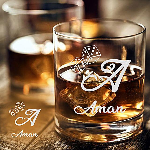 stylish whiskey glass set of 2 online:Personalised Glassware