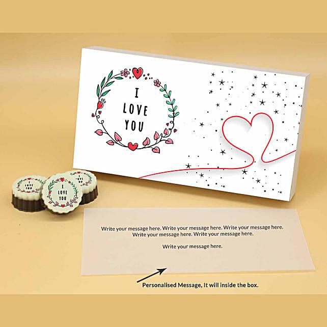 Online Love You Personalised Circular Delicacies