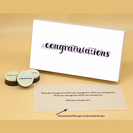 Online Personalised Best Wishes Chocolates:Valentine Personalised Chocolates