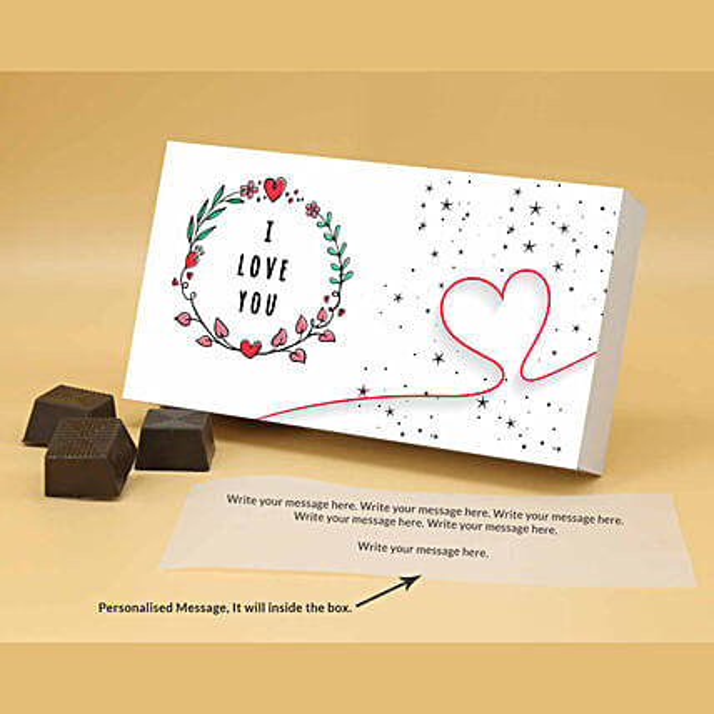 Online Personalised Pretty Chocolate Box