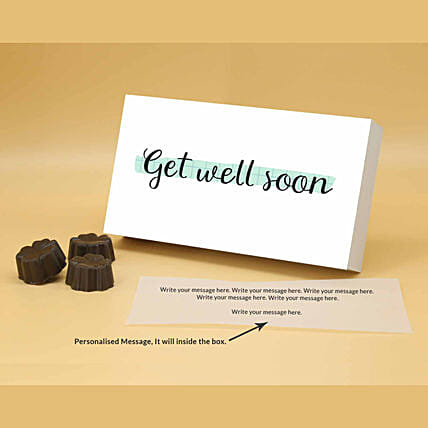 Online Well Wishes Personalised Chocolate Box
