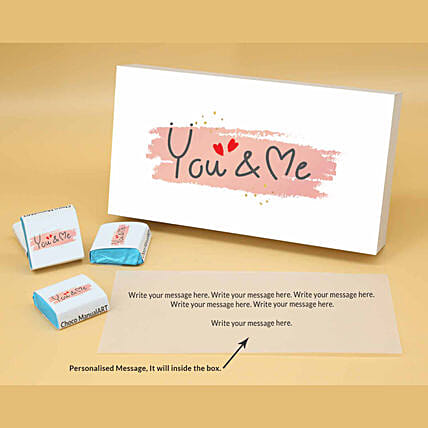 Online You & Me Personalised Assorted Chocolate Box