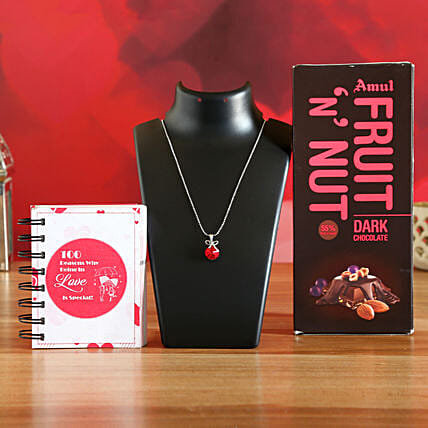 Red Swarovski Bow Pendant With Your Love Gift:Books