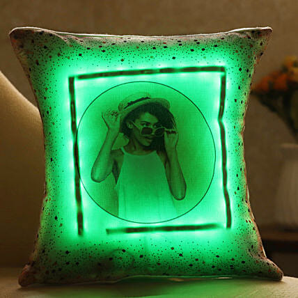 personalised led cushion for her