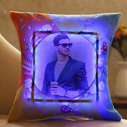 personalised led cushion for him