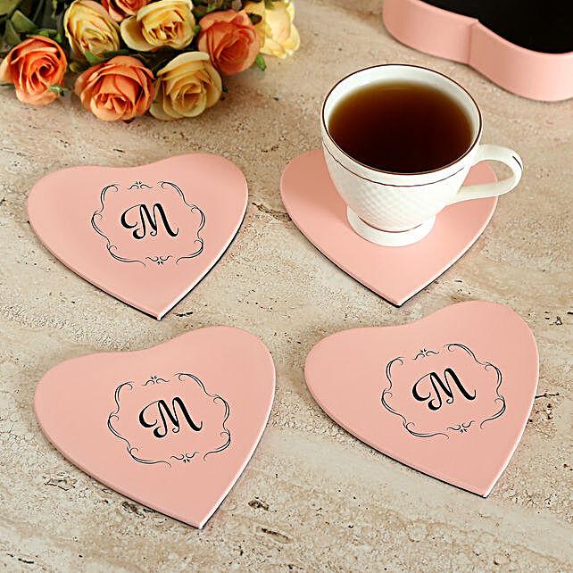 Customised Pink Coaster Set
