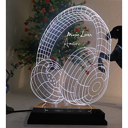 Personalised Music Lover LED Lamp