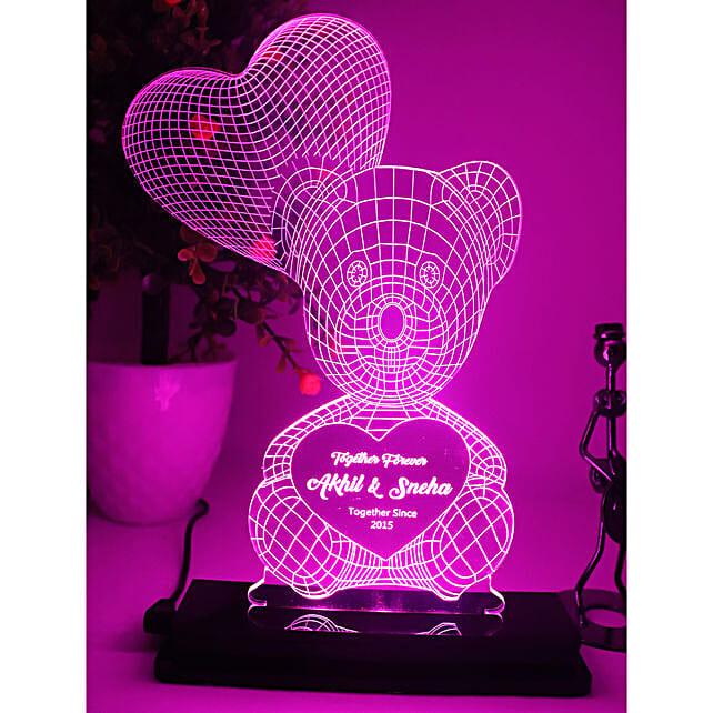 Personalised Teddy Love LED Lamp