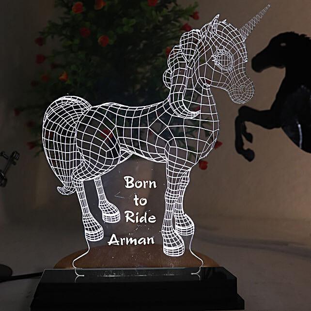 Personalised Unicorn LED Lamp