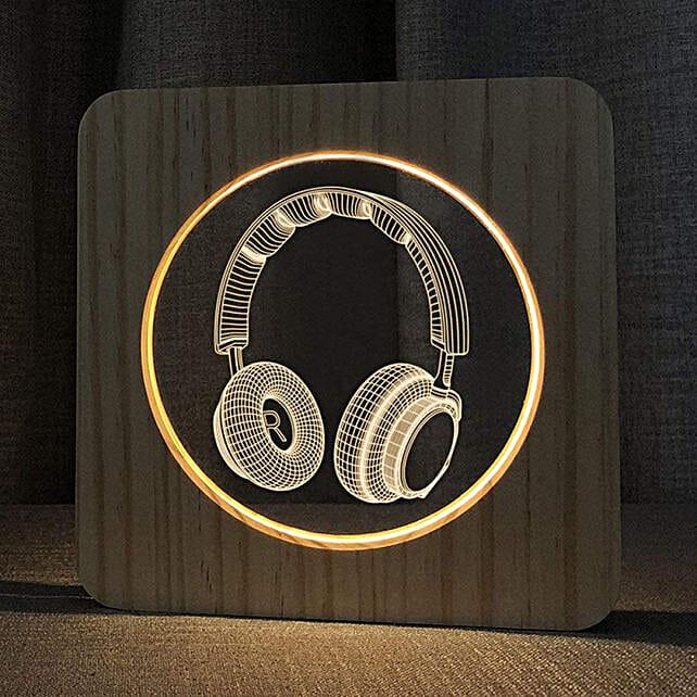 Online Wooden Headphone Lamp:Unusual Gifts