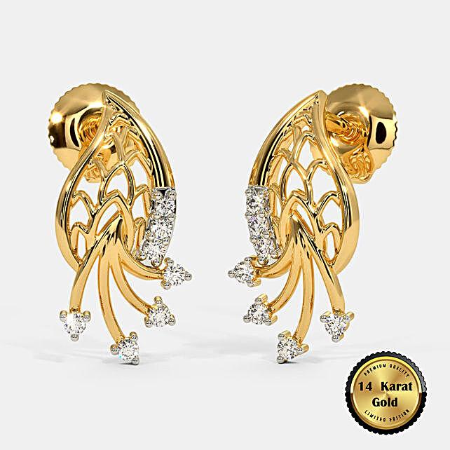 Online The Nitara Stud Earrings:BlueStone Jewellery