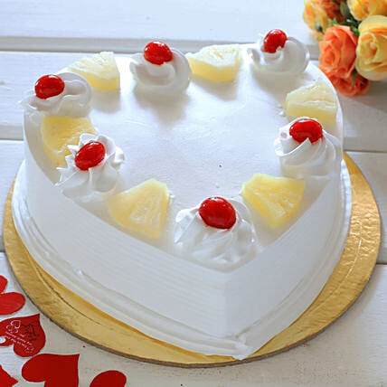 Fresh fruit cake online:Send Pineapple Cakes