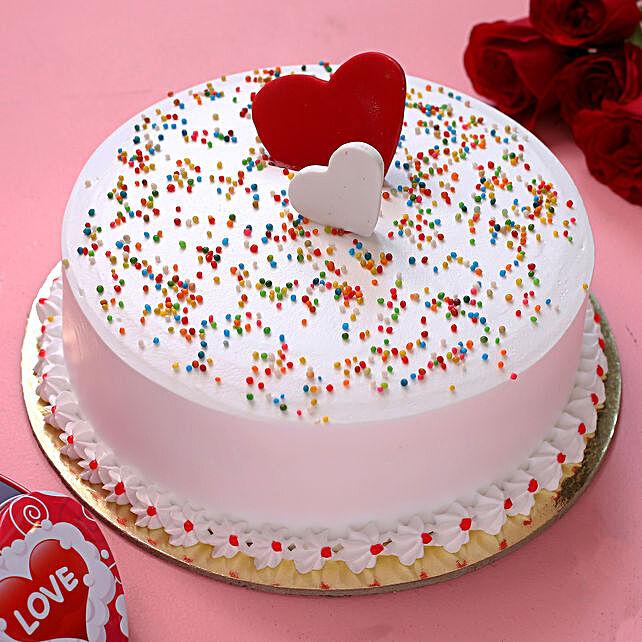 Sprinkle of Joy Vanilla Cake