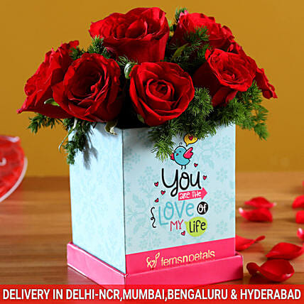 Beautiful Roses In You Are The Love Box