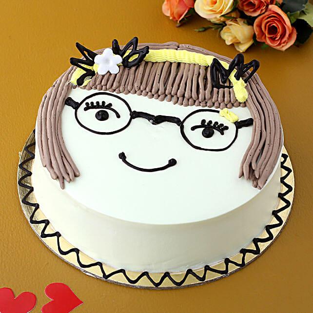 Cute Girl Chocolate Cake:Designer Cakes